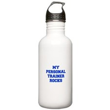 my-personal-trainer-rocks-FRESH-BLUE Water Bottle