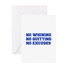 NO-WHINING-FRESH-BLUE Greeting Cards