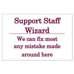 Support Staff Wizard Posters