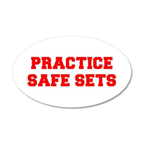 PRACICE-SAFE-SETS-FRESH-RED Wall Decal