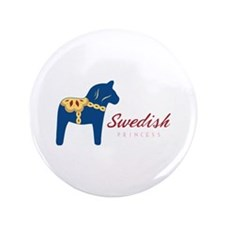 "Swedish Princess 3.5"" Button"