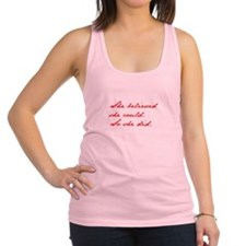 SHE-BELIEVED-SHE-COULD-jan-red Racerback Tank Top