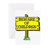 BEWARE CHILDREN Greeting Cards (Pk of 10)