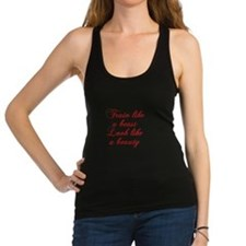 TRAIN-LIKE-A-BEAST-cho-red Racerback Tank Top