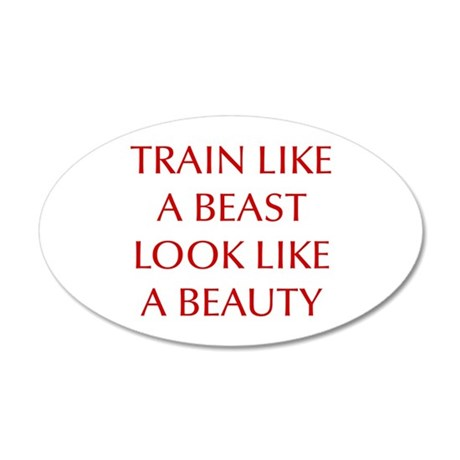 TRAIN-LIKE-A-BEAST-OPT-RED Wall Decal