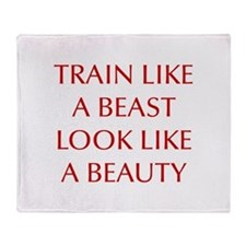 TRAIN-LIKE-A-BEAST-OPT-RED Throw Blanket