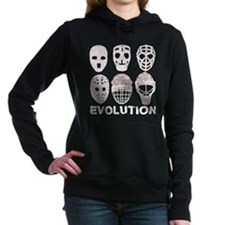 Hockey Goalie Mask Evolution Women's Hooded Sweats