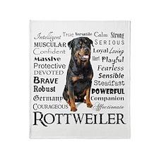 Rottie Traits Throw Blanket
