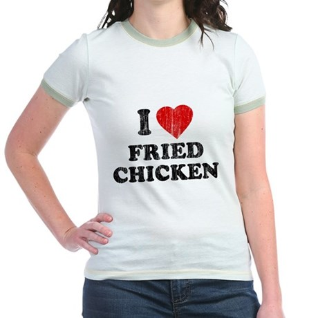 I Love [Heart] Fried Chicken Jr Ringer T-Shirt