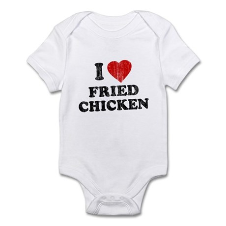 I Love [Heart] Fried Chicken Infant Bodysuit