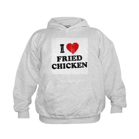 I Love [Heart] Fried Chicken Kids Hoodie