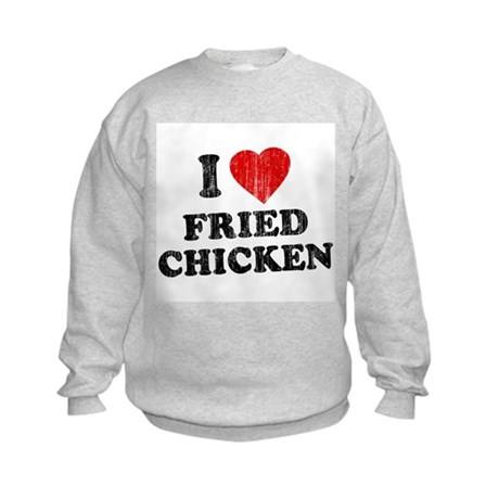 I Love [Heart] Fried Chicken Kids Sweatshirt