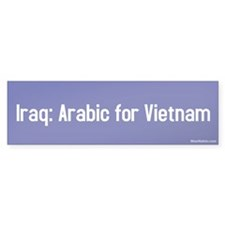 iraq: arabic for vietnam Bumper Car Sticker