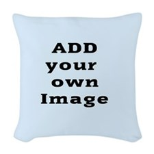 Add Image Woven Throw Pillow