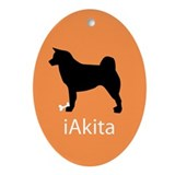 iAkita Oval Ornament