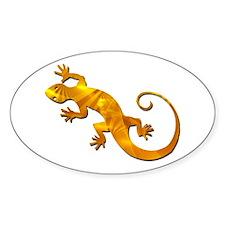 Golden Yellow Gecko Decal
