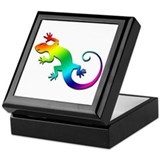 Rainbow Gecko Keepsake Box