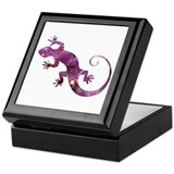 Purple Gecko Keepsake Box