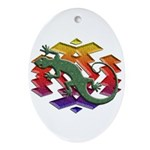 Gecko Southwest Ornament (Oval)