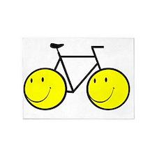 Happy Bike 5'x7'Area Rug
