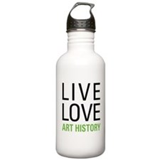 Live Love Art History Water Bottle