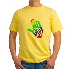 Rainbow Petroglyph Hand T