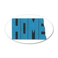 North Dakota Home 35x21 Oval Wall Decal