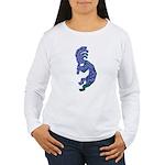 Blue Kokopelli Women's Long Sleeve T-Shirt