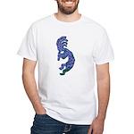 Blue Kokopelli White T-Shirt