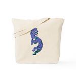 Blue Kokopelli Tote Bag