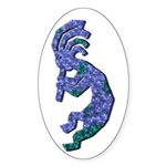 Blue Kokopelli Oval Sticker
