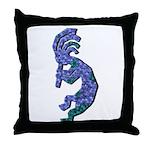 Blue Kokopelli Throw Pillow