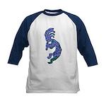 Blue Kokopelli Kids Baseball Jersey