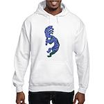 Blue Kokopelli Hooded Sweatshirt
