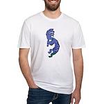 Blue Kokopelli Fitted T-Shirt