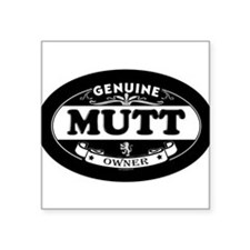 "Cute Dog mutt Square Sticker 3"" x 3"""
