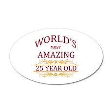 25th. Birthday 35x21 Oval Wall Decal