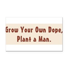 Funny Dope Rectangle Car Magnet