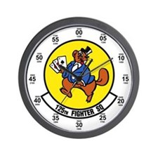 125th Fighter Squadron Wall Clock