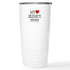 Personalize My Heart Belongs To Travel Mug