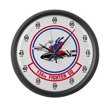 134th Fighter Squadron Large Wall Clock