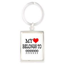 Personalize My Heart Belongs To Keychains