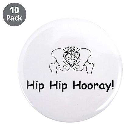 Bone gifts gt bone buttons gt hip hip hooray 3 5 quot button 10 pack