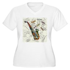 Sax Plus Size T-Shirt