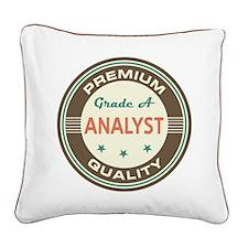 Analyst Vintage Square Canvas Pillow