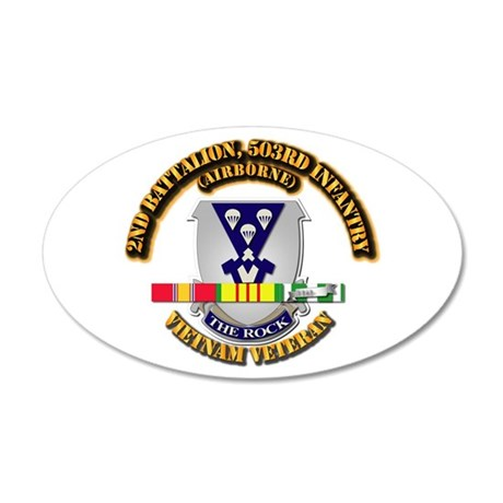 2nd Bn - 503rd Infantry (Air 20x12 Oval Wall Decal