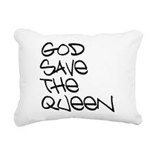 GOD SAVE THE QUEEN Rectangular Canvas Pillow
