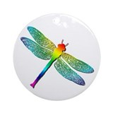 Dragonfly Round Ornaments