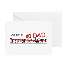Job Dad Insurance Agent Greeting Cards (Pk of 20)