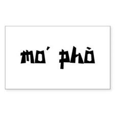 mo' pho Rectangle Decal
